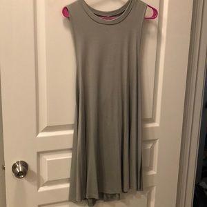 Pale Green Open Back Dress